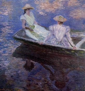 Claude Oscar Monet : Young Girls in a Row Boat
