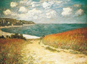 Claude Oscar Monet : Path Through the Corn at Pourville