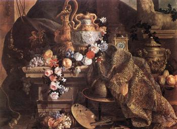 Jean-Baptiste Monnoyer : Still-Life of Flowers and Fruits
