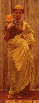 Albert Joseph Moore : The Gilded fan