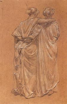 Albert Joseph Moore : Study of Two Female Figures
