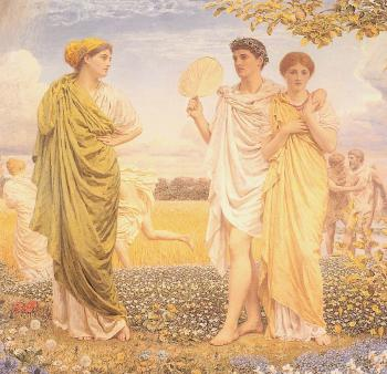 Albert Joseph Moore : The Loves of the Winds and the Seasons