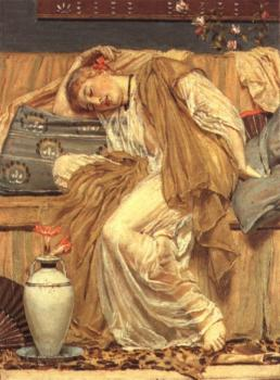 Albert Joseph Moore : A Sleeping Girl