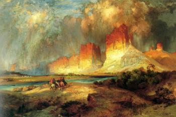 Thomas Moran : Cliffs of the upper Colorado River, Wyoming territory