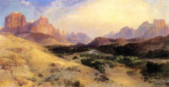 Thomas Moran : Zion Valley, South Utah