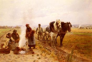 Adrien Moreau : Plowing The Fields