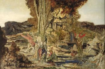 Gustave Moreau : The Pierides