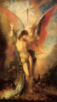 Gustave Moreau : Saint Sebastian and the Angel