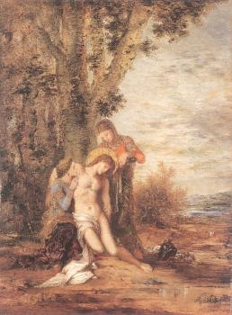 Gustave Moreau : The Martyred St Sebastian