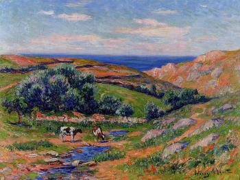 Henri Moret : A Valley in Sadaine, the Bay of Douarnenez