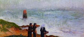 Henri Moret : Breton Women by the Sea