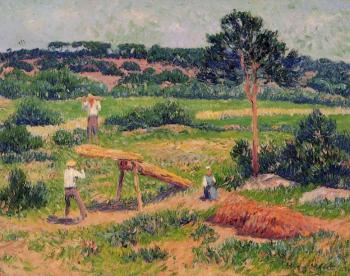 Henri Moret : Bretons Working with Wood