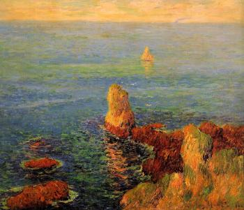 Henri Moret : Calm Sea at L'Ile de Groux