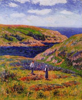 Henri Moret : Cliffs at Clohars, Caronet