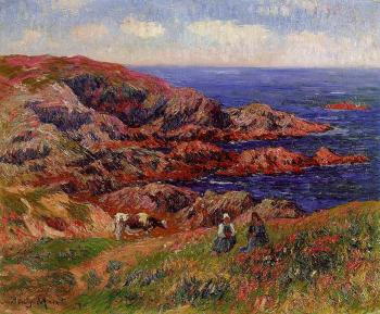 Henri Moret : Cliffs at Kerserol, Finistere