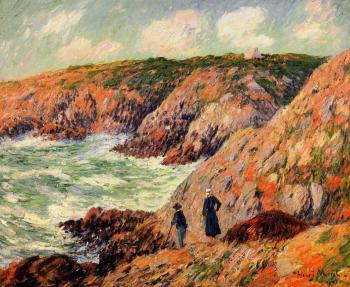 Henri Moret : Cliffs of Moelian, Finistere II