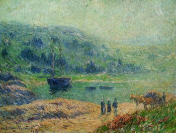 Henri Moret : Creek in Brittany