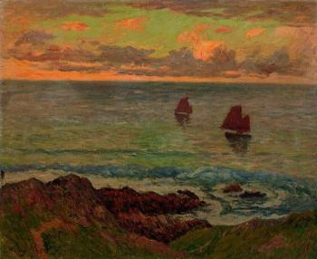 Henri Moret : Evening at Doelan