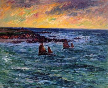 Henri Moret : Evening, Audierne