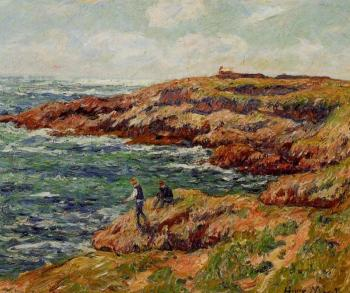 Henri Moret : Fishermen on the Breton Coast
