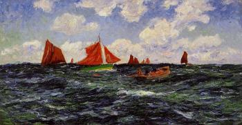 Henri Moret : Fishing Boats off the Coast