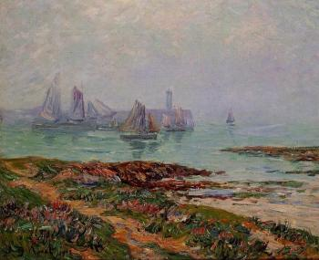 Henri Moret : Misty Day at Dielette, the Manche