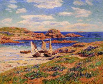 Henri Moret : Porspoder, the Port, Finistere