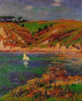 Henri Moret : Sailboats in Brittany