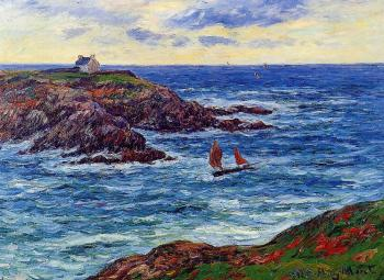 Henri Moret : Sailboats off the Coast of Doelan