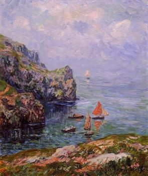 Henri Moret : Stormy Weather, Brizellec, Finistere