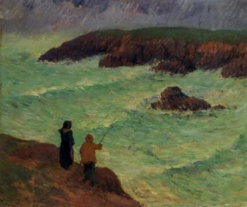 Henri Moret : The Cliffs near the Sea