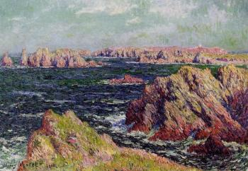 Henri Moret : The Cliffs of Belle Ile