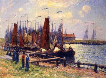 Henri Moret : The Port of Volendam