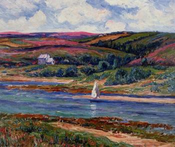 Henri Moret : The River at Belon