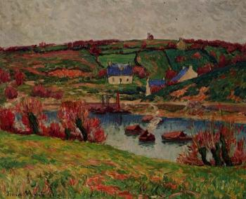 Henri Moret : The River at Douaelan-sur-Mer