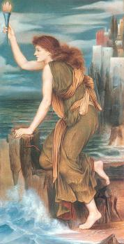 Evelyn De Morgan : Hero Awaiting the Return of Leander