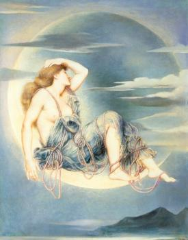 Evelyn De Morgan : Luna