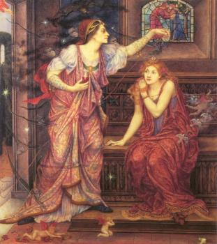 Evelyn De Morgan : Queen Eleanor and Fair Rosamund