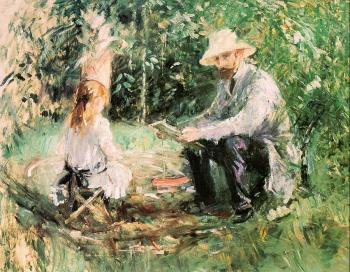 Eugene Manet and his Daughter Julie in the Garden (The Husband and Daughter of the Artist)