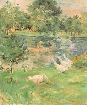 Girl in a Boat, with Geese