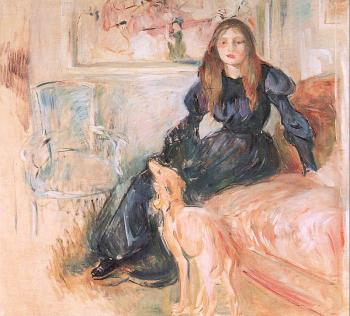 Julie Manet and her Greyhound Laertes