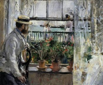 Berthe Morisot : Eugene Manet (the Artist's Husband)  on the Isle of Wight