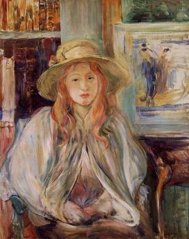 Berthe Morisot : Girl in a Straw Hat