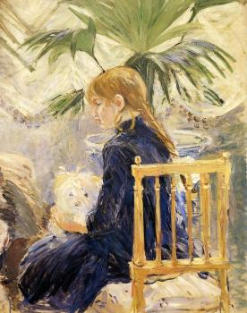 Berthe Morisot : Girl with Dog