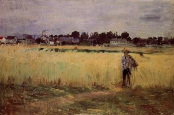 Berthe Morisot : In the Wheat Fields at Gennevilliers