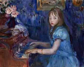 Berthe Morisot : Lucie Leon at the Piano