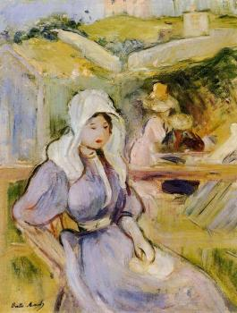 Berthe Morisot : On the Beach at Portrieux