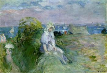 Berthe Morisot : On the Cliff at Portrieux