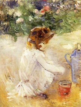 Berthe Morisot : Playing in the Sand