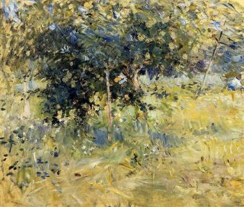 Berthe Morisot : Willows in the Garden at Bougival